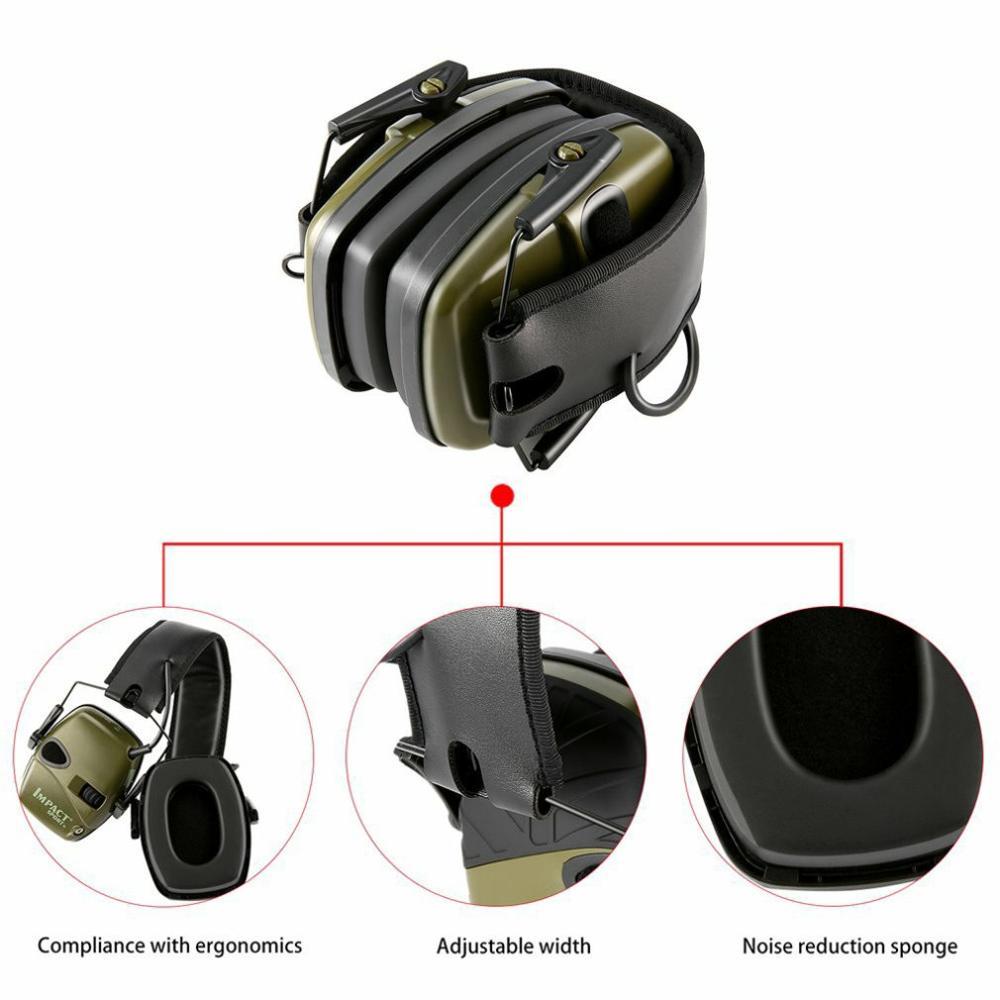 Горячая тактическая электронная съемка наушник Спорт на открытом воздухе Анти-шум гарнитура ударное Усиление звука слуха Защитная гарнитура-4
