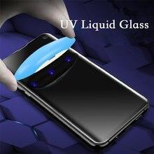 Для samsung s20 ультра телефон закаленное стекло УФ клей нано