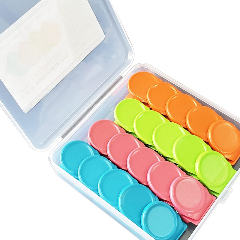 20Pcs Magnetic Metal Clips,Magnetic Clips , Refrigerator Whiteboard Wall Fridge Magnetic Memo Note Clips