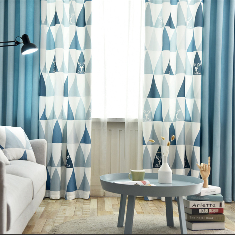 Nordic Style Window Curtain Finished Bedroom Blackout Curtain Living Room Modern Curtains For Rideaux Chambre