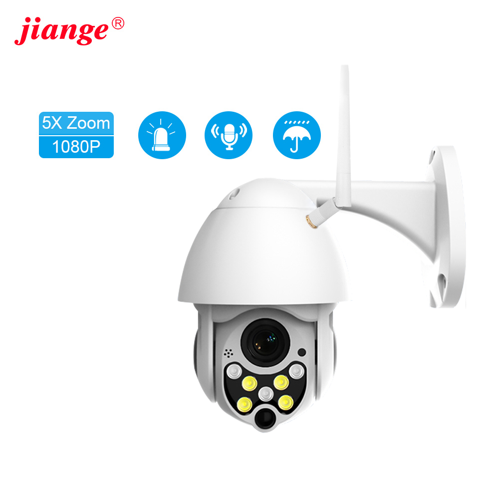 jiange security camera outdoor wireless ptz zoom camera auto tracking alarm push camera for home security ycc365plus