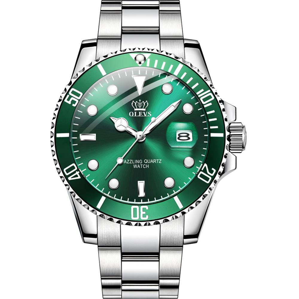 Men Wrist Watches Luminous Pointer Stainless Steel Watchband Luxury Brand Male Sports Watch Geneva Quartz Rolexable 2020