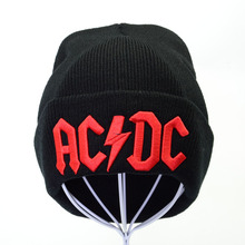 winter ACDC embroidery letter knitted cap men women winter hats acdc rock beanie hat outdoor warm knitting beanie caps ski cap