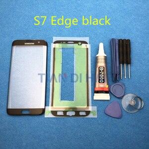 Image 2 - ด้านหน้าด้านนอกกระจกเปลี่ยนเลนส์สำหรับ Samsung Galaxy S7 EDGE G935 G935F G935FD S6 EDGE G925F LCD & b 7000 กาวเครื่องมือ