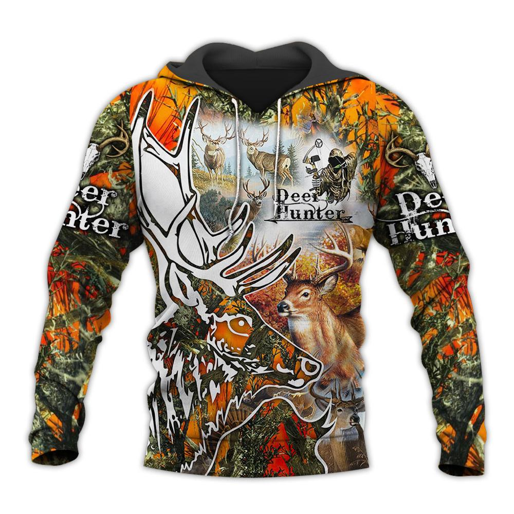 Deer Hunter 3D Printed Men Hoodies/sweatshirt Harajuku Fashion Hooded Long Sleeve Pullovers Unisex Streetwear YY-199