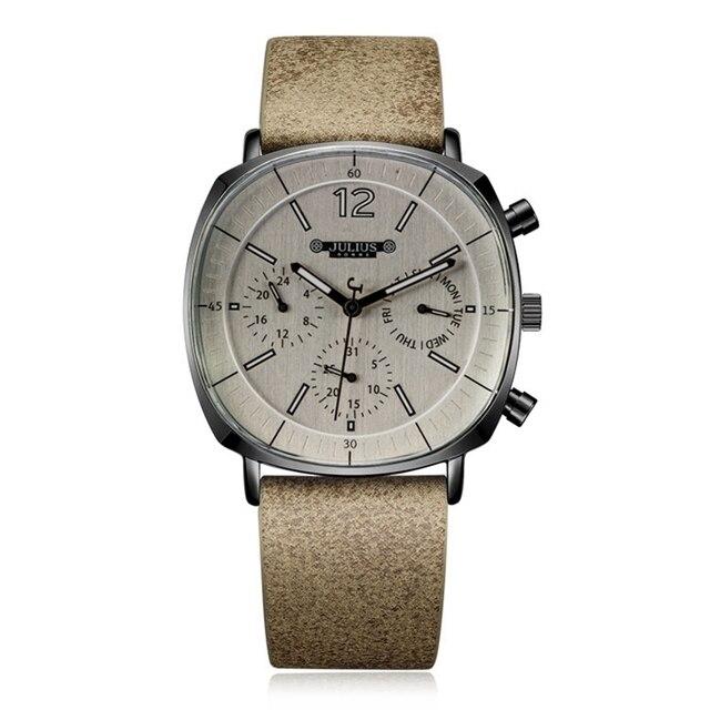 גברים רצועת עור שוויצרי קוורץ שעון גברים של לוח שנה זוהר עמיד למים שעוני יד איש גדול סגנון ספורט יד שעונים מתנת שעון