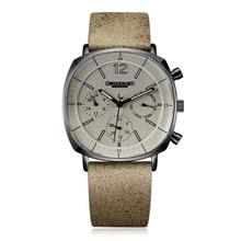 Männer Leder Band Schweizer Quarzuhr männer Kalender Leucht Wasserdichte Armbanduhr Mann Großen Stil Sport Handgelenk Uhren Geschenk Uhr
