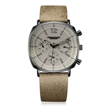 Men Leather Band Swiss Quartz Watch Mens Calendar Luminous Waterproof Wristwatch Man Big Style Sport Wrist Watches Gift Clock