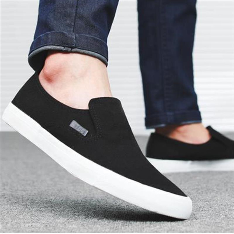 Mens Trainers Loafers Men Canvas Shoes