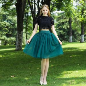 Image 5 - 5 שכבות 60cm Midi טול חצאית נסיכת נשים למבוגרים טוטו אופנה בגדי Faldas Saia Femininas נהיגה לראשונה חצאית קיץ סגנון