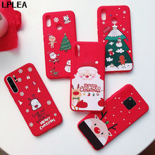 Cartoon Christmas Gift Case Cover For Huawei P20 Lite P30 Pro P Smart 2019 Santa Claus Elk Soft TPU For Mate 30 Pro 20 Lite Case(China)