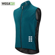 Bicycle Jersey Vest WOSAWE Clothing Mountain-Bike Waterproof Breathable Running Sleeveless