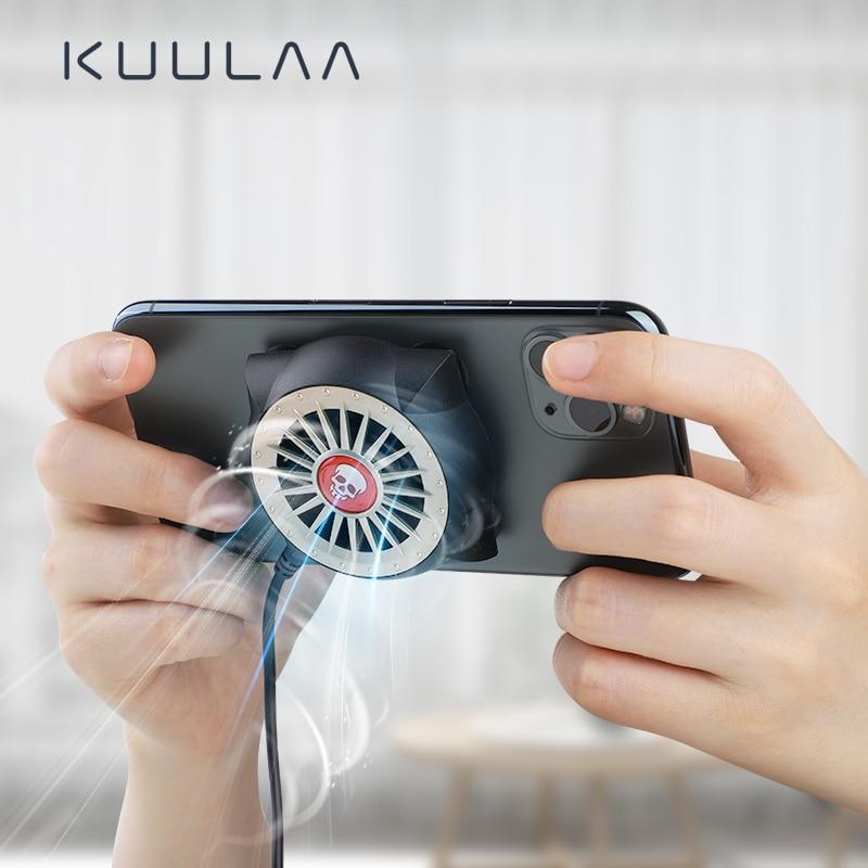 KUULAA Mobile Phone Radiator Gaming Universal Phone Cooler Portable Fan Cooling Heat Sink For Xiaomi IPhone Samsung Huawei