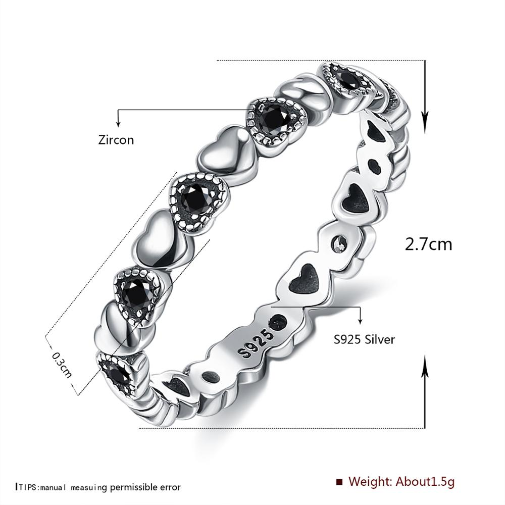 LEKANI 925 Sterling Silver Ring Love Heart Star Party Ring For Women Wedding Rings Original Fine Jewelry 5 Styles Hot Sale 2020
