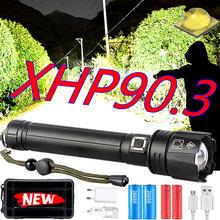 Xhp903 xhp702 светодиодный фонарик самый мощный 18650 26650