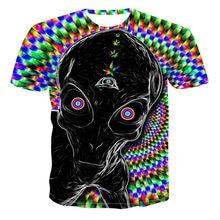 Camisetas de verano para hombre y mujer, divertidas camisetas con dibujo de astronauta e2n 3D, paisaje espacial, diseño creativo