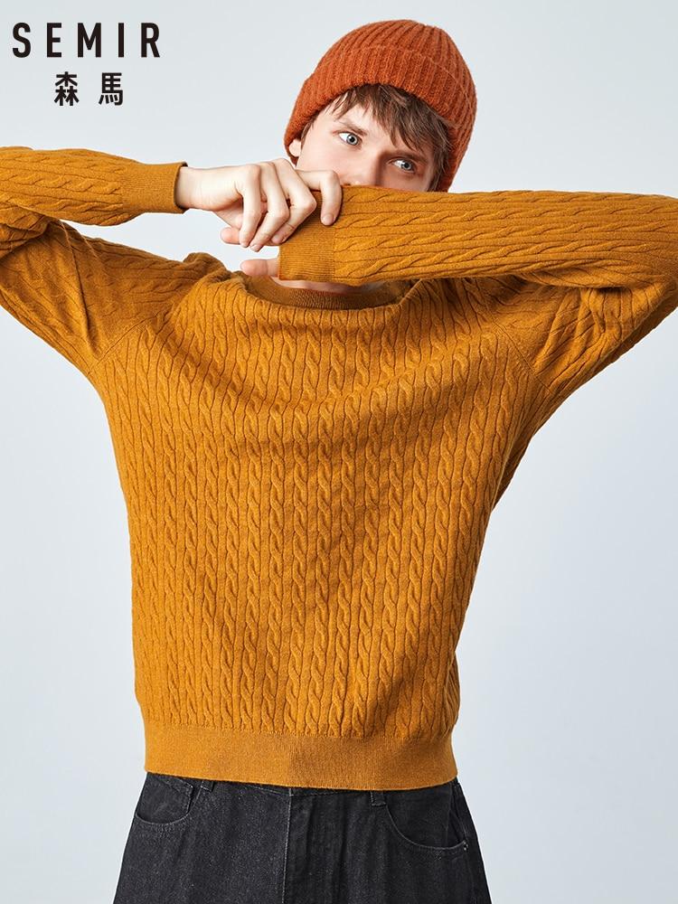 Semir Sweater Men 2019 Autumn New Korean Version Round Neck Twist Sweater Warm Man Clothing Bottoming Shirt Tide
