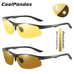 Image 3 - CoolPandas alüminyum fotokromik polarize güneş gözlüğü erkekler sürüş gözlükleri kadınlar günü gece sürücü gözlük Oculos De Sol Masculino
