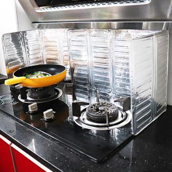 Aluminiowa osłona rozbryzgowa oleju ochrona przed rozpryskami kuchenka gazowa osłona ekranu osłona przed rozpryskiem tarcza akcesoria kuchenne tanie i dobre opinie Ekologiczne Other Splatter ekrany anti splatter splatter screen Protection Screen Baffle Tools Kitchen Tool