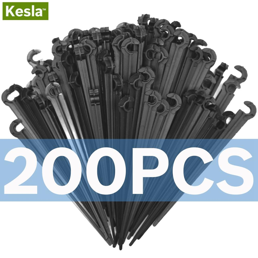 50 200PCS Durable 1 4 C type Hook Fixed Stem Support Holder Stakes for 4 7mm 50-200PCS Durable 1/4'' C-type Hook Fixed Stem Support Holder Stakes for 4/7mm Hose Flowerpot Drip Irrigation Fitting Greenhouse