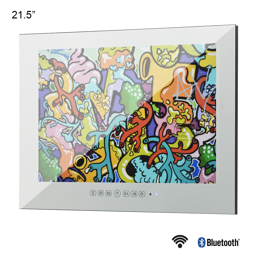Souria 21.5 inç Full HD 1080P Android akıllı ufuk cam ayna su geçirmez TV LAN ve entegre Wi-Fi