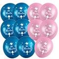 50 штук 10 см со стразами синего и розового цвета крещения испанский Mi Bautizo, французский Mon Baptême воздушный шар для детей крещение украшения веч...