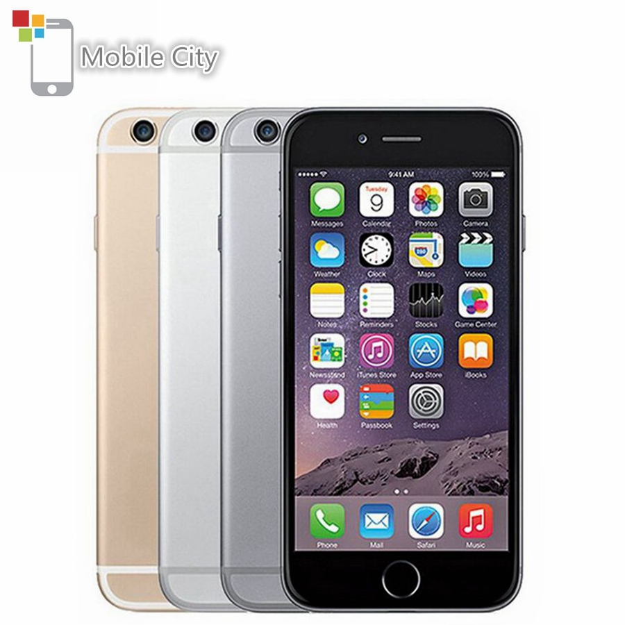 Apple IPhone 6 IOS 4G LTE Unlocked Mobile Phone Dual Core 4.7' IPS 1GB RAM 16/64/128GB ROM Fingerprint Used SmartPhone