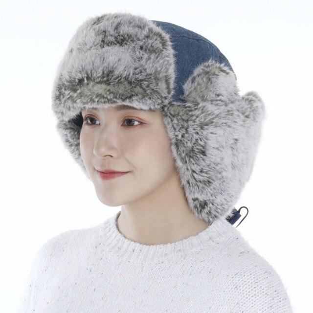 Купить ht3325 новая джинсовая русская шапка высокого качества толстая картинки цена