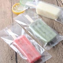 100pcs/Lot Transparent Ice Cream Plastic Bag Popsicle bag Cake Bread Chocolate DIY Packaging
