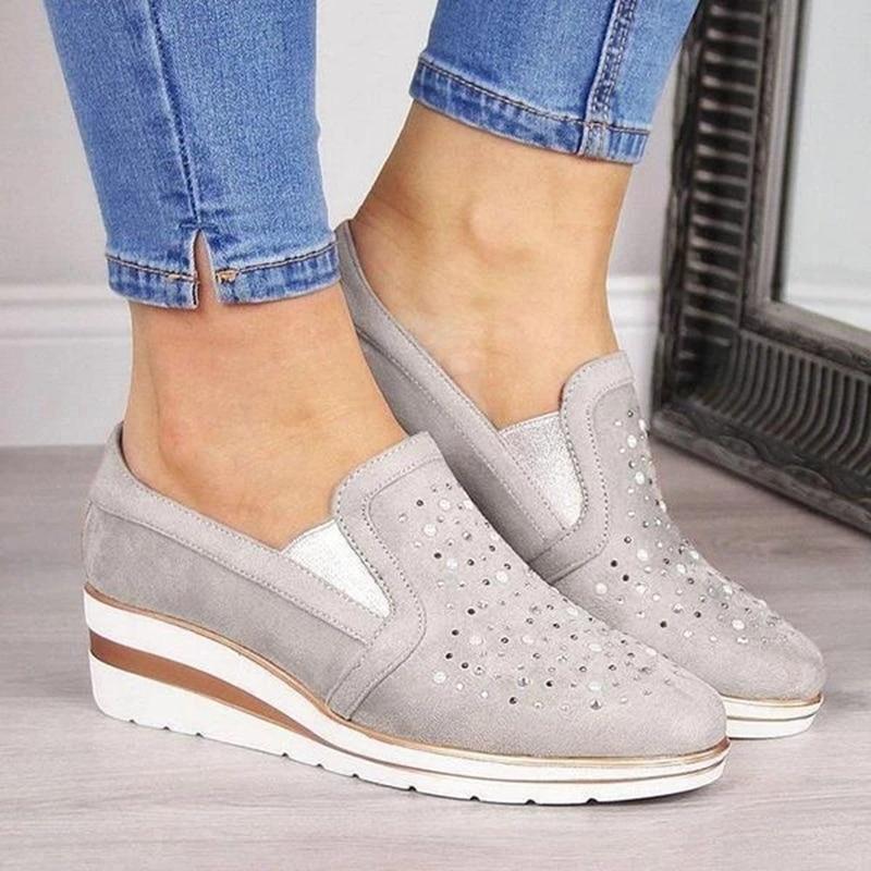 Adisputent Drop Shipping 2019 New Fashion Women  Ladies' Vulcanized Shoes Leisure Anti-Sliding Flat Soles Mesh Sports Shoes на русском алиэкспресс
