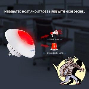 Image 2 - 433 MHz 무선 플래시 사이렌 경보 사이렌 경적 붉은 빛 스트로브 사이렌 홈 경보 시스템 보안 키트