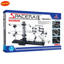 24set New Parts Space Rail Toy, Adult Indoor Playing, Assembled Roller Coaster Model Building Kit, Most Basic Level,233-1,6500mm