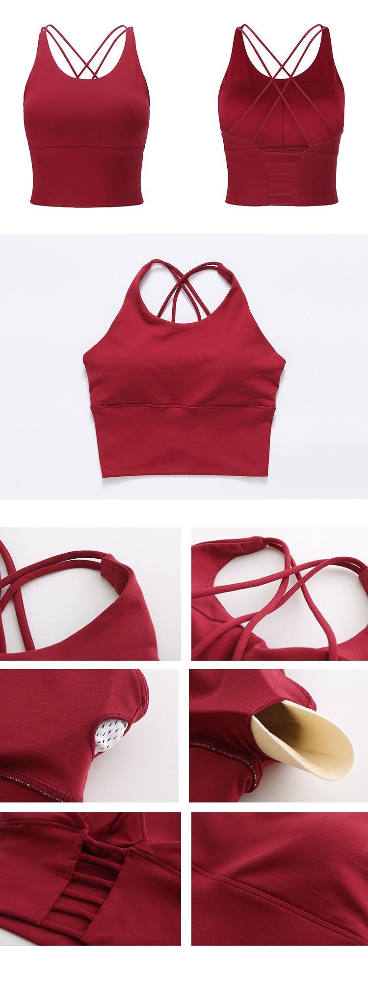 lingerie strappy fitness bra