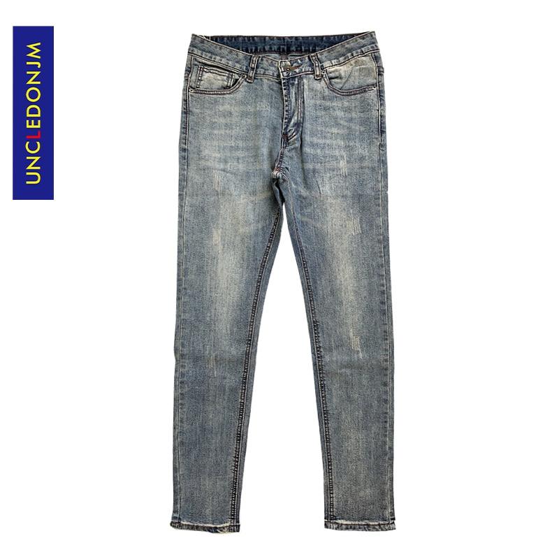 UNCLEDONJM Jeans Skinny Jeans Slim Mens Biker Jeans Fashion Streetwear Hip Hop Pants Jogger Punk Rock Trousers