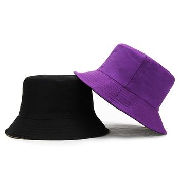 Moda nowy Panama mężczyźni kobiety podwójne wykorzystanie kapelusze wiadro Unisex czysty kolor kapelusz słońce kapelusze odkryty daszek czapki rybak kapelusze tanie i dobre opinie Speelk COTTON Dla dorosłych Mieszkanie Stałe H089 Wiadro kapelusze Formalne 54-59 cm 110 g Double Side Wear panama Pure Color