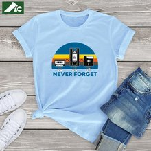 Flc 100% хлопок kawaii футболка женская девочек never forget