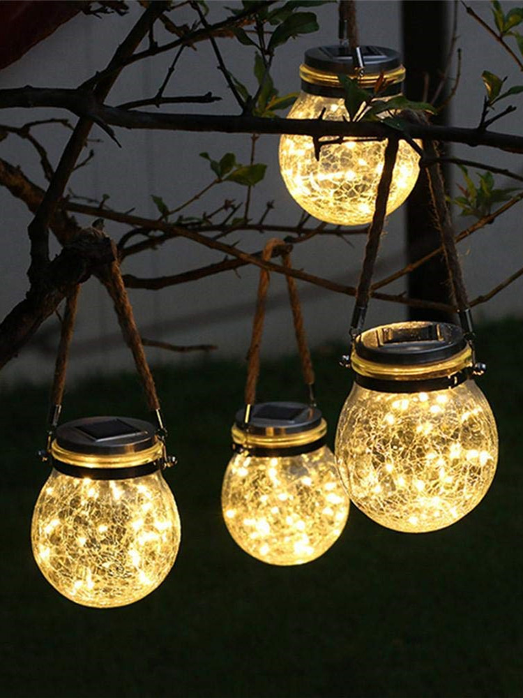 Fairy-Light Decorative Led-Lamps Patio Powered Led Solar Garden Outdoor for Party Wedding