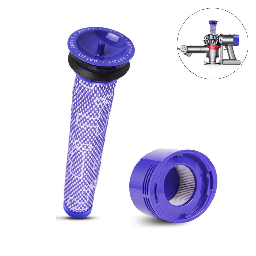 Replacement Dyson V8 Pre and Post Filter Compatible for Dyson V7 V8 Animal Absolute Cordless Vacuum Cleaner Filter Vacuum Cleaner Parts     - title=