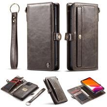 Caso de couro de luxo para o iphone xs max x xr 6s mais 8 7 mais flip caso carteira magnética caso do telefone para o iphone 11 pro max se 2020
