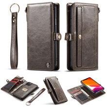 아이폰 XS 맥스 X XR 6 6S 플러스 8 7 플립 플립 지갑 케이스에 대한 고급 가죽 케이스 아이폰 11 프로 맥스 SE 2020 에 대한 자기 전화 케이스