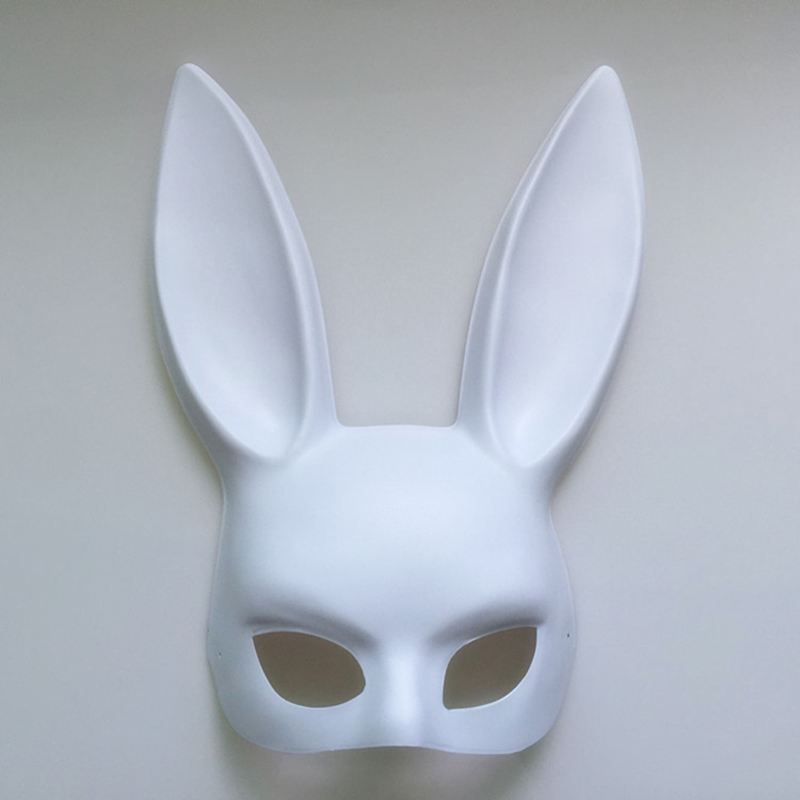 Image 5 - Mark Black Women Girl Sexy Rabbit Ears Mask Cute Bunny Long Ears Bondage Mask Halloween Masquerade Party Cosplay Costume Props-in Party Masks from Home & Garden