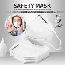 5PCS N95 Antivirus Mask Particulate Respirator Mask, Disposable Air Filter Masks Safety Face Mask, NIOSH Certified