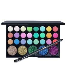 Hot 29 Colors Eyeshadow Palette Matte Shimmer Glitter Waterproof Shining Eye Shadow Powder Cosmetic Focallure Shadows
