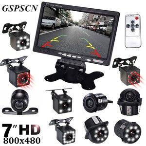 Камера заднего вида GSPSCN с ночным видением, инфракрасная камера заднего вида с ЖК-экраном 7 дюймов и функцией помощи при парковке