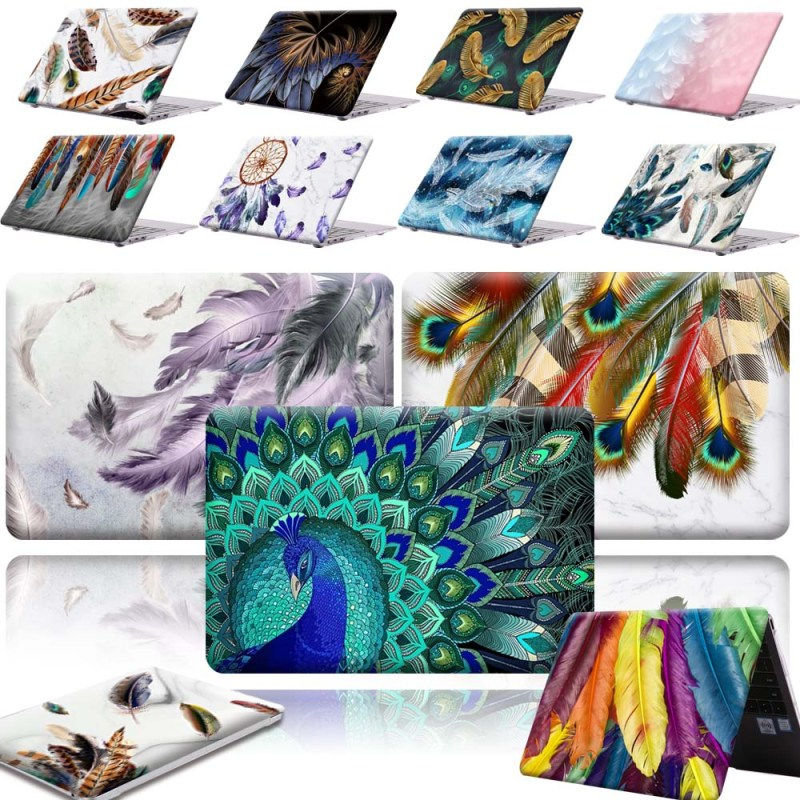 KK&LL For HUAWEI MateBook X Pro 2019 13.9 / MateBook 13 14 Inch  -New Print Feather Art PC Shell Laptop Anti-Scratch Case Cover