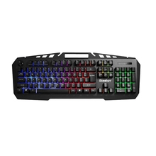 For Bosston Mechanical Feel Usb Wired Backlight 104 Keys Gaming Keyboard Set With Phone Holder 8350