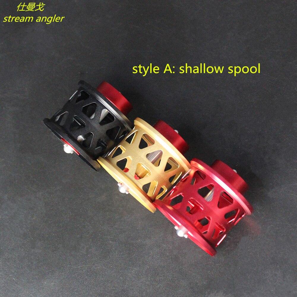 diy spool for steez zillion1016 T3 ryoga lighter Aviation aluminum shallow and universal spool baitcasting reel - 2