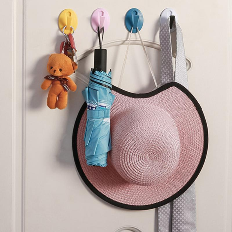 Cute Hooks Wide Scope Of Application Simplicity Nail-free Strong Adhesive Paste Door Back Hooks Kitchen Home Gadgets