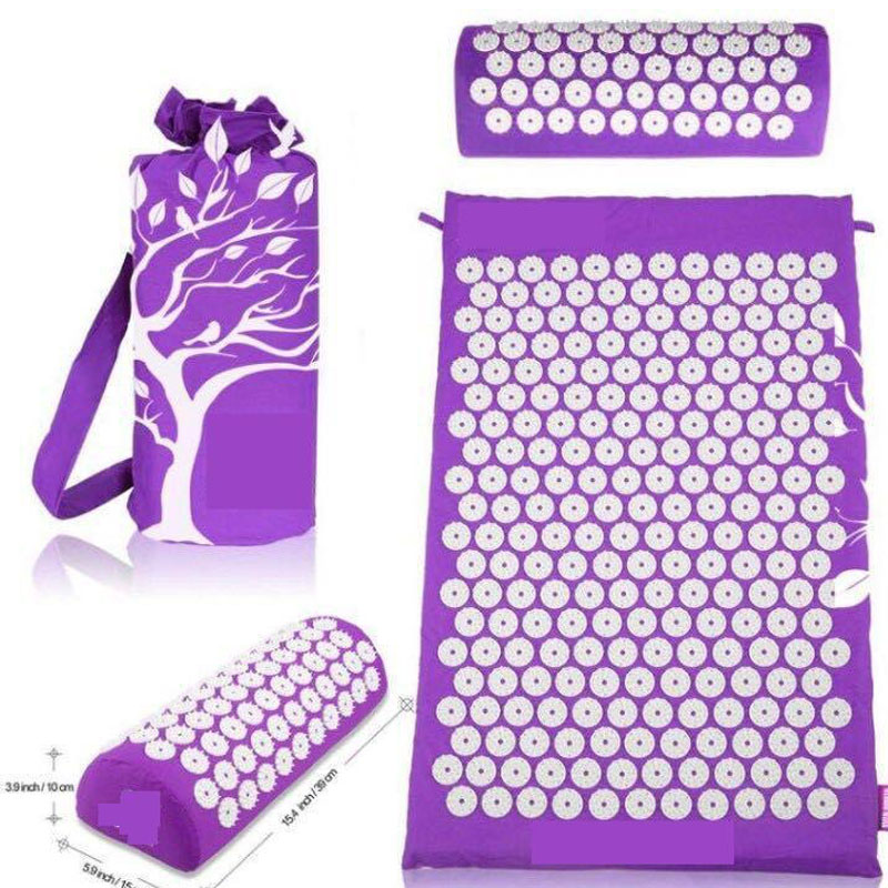 Acupressure Mat Head Neck Back Foot Massage Cushion Pillow Yoga Spike Mat Anti-stress Acupuncture Pad Needle Massager