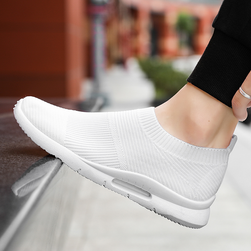 Damyuan Men Light Running Shoes Jogging Shoes Breathable Man Sneakers Slip on Loafer Shoe Men's Casual Shoes Size 46 2020 2
